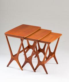 Erling Torvits Scandinavian Midcentury Nesting Tables by Erling Torvits for HM - 1690184