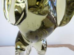 Ermanno Nason Pale and Clear Murano Glass Horse Signed by Ermanno Nason - 253968