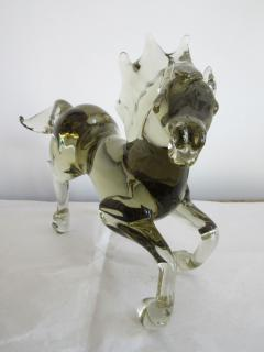 Ermanno Nason Pale and Clear Murano Glass Horse Signed by Ermanno Nason - 253972