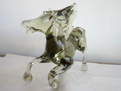 Ermanno Nason Pale and Clear Murano Glass Horse Signed by Ermanno Nason - 253973
