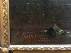Ernest Etienne de Francheville Narjot Two Children Feeding Ducks in a Pond - 1587432