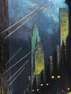 Ernest Fiene Winter Evening Fifth Avenue Night Scene - 2110361