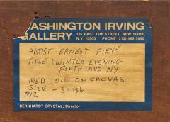 Ernest Fiene Winter Evening Fifth Avenue Night Scene - 2110365