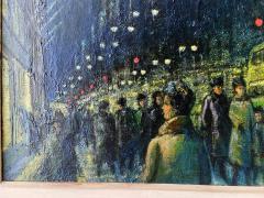 Ernest Fiene Winter Evening Fifth Avenue Night Scene - 2110367