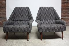 Ernest Race Pair of Ernest Race Lounge Chairs and Ottoman in Eames Upholstery - 374368