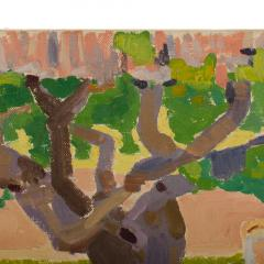 Ernest Yarrow Jones Ernest Yarrow Jones British b 1872 d 1951 Les Chenes Liege painting  - 2128891