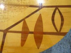 Erno Fabry Italian Modern Walnut Lemonwood Sycamore and Brass Low Side Table - 1256601