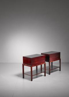 Ernst K hn Ernst K hn pair of mahogany nightstands Denmark 1930s - 877055