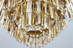 Ernst Palme Pair Of Crystal Glass Flush Mount Chandelier by Palwa Germany 1970s - 705557