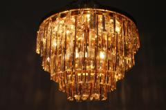 Ernst Palme Pair Of Crystal Glass Flush Mount Chandelier by Palwa Germany 1970s - 705561