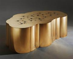 Erwan Boulloud Erwan Boulloud Cloud Shaped Rosanna Coffee Table in Brass and Onyx - 1553457