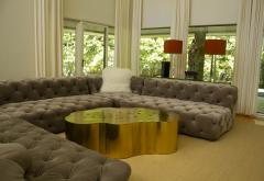 Erwan Boulloud Erwan Boulloud Cloud Shaped Rosanna Coffee Table in Brass and Onyx - 1553460