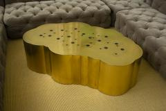 Erwan Boulloud Erwan Boulloud Cloud Shaped Rosanna Coffee Table in Brass and Onyx - 1553461