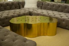 Erwan Boulloud Erwan Boulloud Cloud Shaped Rosanna Coffee Table in Brass and Onyx - 1553462