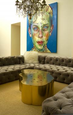Erwan Boulloud Erwan Boulloud Cloud Shaped Rosanna Coffee Table in Brass and Onyx - 1553463