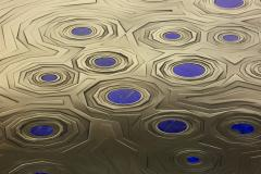Erwan Boulloud Roeco Coffee Table in Brass Black Steel with Inlaid Lapis Lazuli by Atelier Eb - 1684462