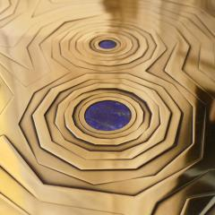 Erwan Boulloud Roeco Coffee Table in Brass Black Steel with Inlaid Lapis Lazuli by Atelier Eb - 1684467