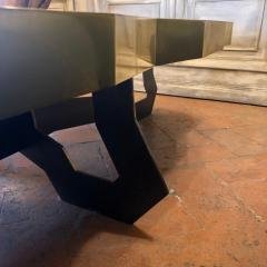 Erwan Boulloud Roeco Coffee Table in Brass Black Steel with Inlaid Lapis Lazuli by Atelier Eb - 1684510