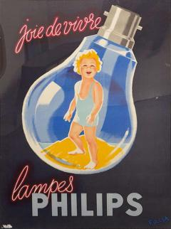 Erwin Wasey Large Philips Lampes Poster - 89068