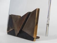 Esa Fedrigolli Lucite and Bronze Picture holder 1970s - 1034287