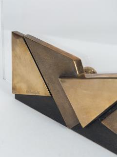 Esa Fedrigolli Lucite and Bronze Picture holder 1970s - 1034288
