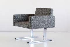 Esko Pajamies Pair of Esko Pajamies Lounge Chairs in Raf Simons Fabric Merva Finland 1960s - 1555564