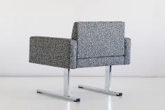 Esko Pajamies Pair of Esko Pajamies Lounge Chairs in Raf Simons Fabric Merva Finland 1960s - 1555566