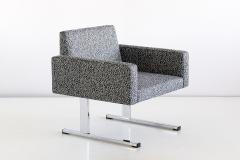 Esko Pajamies Pair of Esko Pajamies Lounge Chairs in Raf Simons Fabric Merva Finland 1960s - 1555570