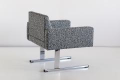 Esko Pajamies Pair of Esko Pajamies Lounge Chairs in Raf Simons Fabric Merva Finland 1960s - 1555571
