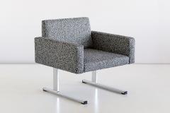 Esko Pajamies Pair of Esko Pajamies Lounge Chairs in Raf Simons Fabric Merva Finland 1960s - 1555572