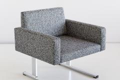 Esko Pajamies Pair of Esko Pajamies Lounge Chairs in Raf Simons Fabric Merva Finland 1960s - 1555573