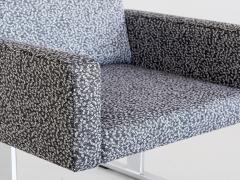 Esko Pajamies Pair of Esko Pajamies Lounge Chairs in Raf Simons Fabric Merva Finland 1960s - 1555574