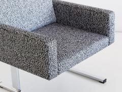 Esko Pajamies Pair of Esko Pajamies Lounge Chairs in Raf Simons Fabric Merva Finland 1960s - 1555575
