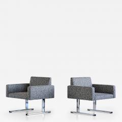 Esko Pajamies Pair of Esko Pajamies Lounge Chairs in Raf Simons Fabric Merva Finland 1960s - 1555632
