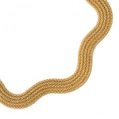 Estate French Woven Gold Collar Necklace of Undulating Design - 1633931