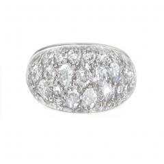 Estate White Gold Crystal and Diamond Bomb Ring - 1851408