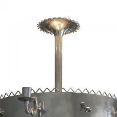 Estrid Ericson Art Deco nickel Plated chandelier by Estrid Ericson and Anna Petrus - 1276199