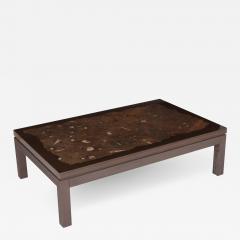 Etienne Allemeersch Etienne Allemeersch Coffee Table With Fossiel Inlay 1970s - 1104530