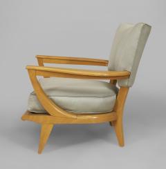 Etienne Henri Martin French 1950s Maple Armchair - 424712
