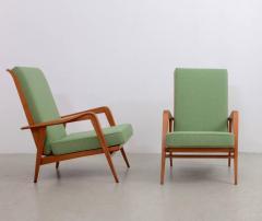 Etienne Henri Martin Pair of New Upholstered Etienne Henri Martin Lounge Chairs - 532526