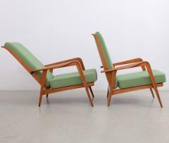 Etienne Henri Martin Pair of New Upholstered Etienne Henri Martin Lounge Chairs - 532527