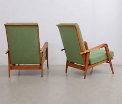 Etienne Henri Martin Pair of New Upholstered Etienne Henri Martin Lounge Chairs - 532528
