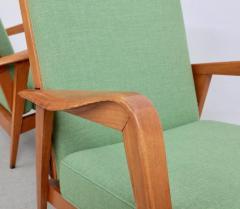 Etienne Henri Martin Pair of New Upholstered Etienne Henri Martin Lounge Chairs - 532529