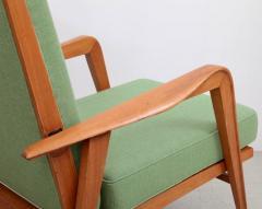 Etienne Henri Martin Pair of New Upholstered Etienne Henri Martin Lounge Chairs - 532530