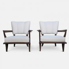 Etienne Henri Martin Pair of Oak Armchairs for Steiner Circa 1948 - 1158853