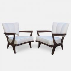 Etienne Henri Martin Pair of Oak Armchairs for Steiner Circa 1948 - 1158854