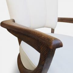 Etienne Henri Martin Pair of Oak Armchairs for Steiner Circa 1948 - 1158855