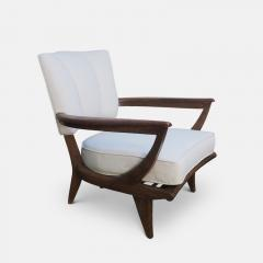 Etienne Henri Martin Pair of Oak Armchairs for Steiner Circa 1948 - 1158856