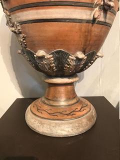 Etruscan style terracotta ewer with wine leaf motifs - 1397630