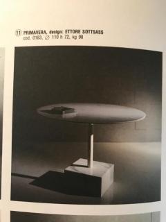 Ettore Sottsass Ettore Sottsass Primavera Carrara Marble Side Table Ultima Edizione - 1318107